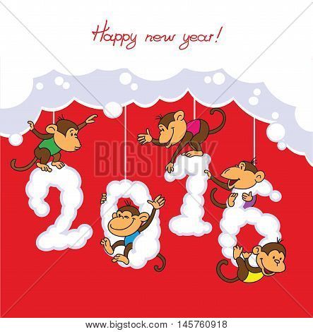Funky monkey - the symbol of the new year 2016