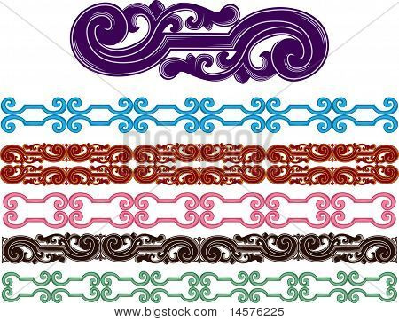 Filigree medieval patterns set