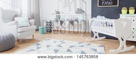 White Toddler Bedroom Idea