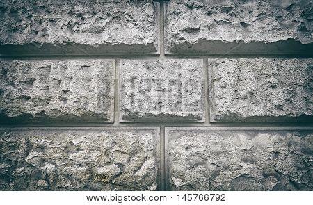 Vintage Stylized Porous Block Wall.