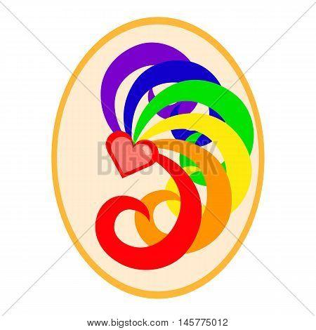 LGBT flag colors love symbol. Nice and simple illustration