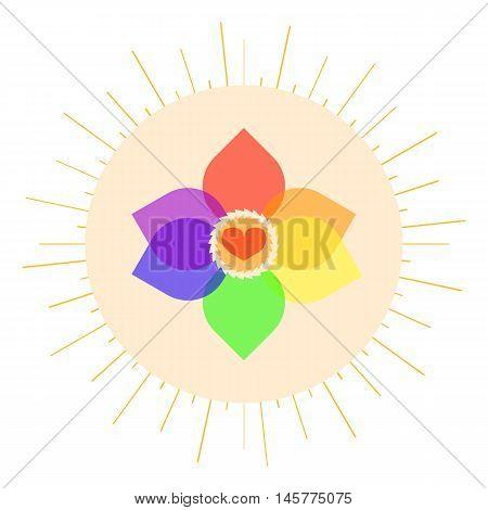 LGBT pastel love symbol. Nice and simple illustration