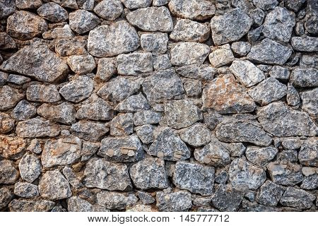 Stone wall for medieval design and template