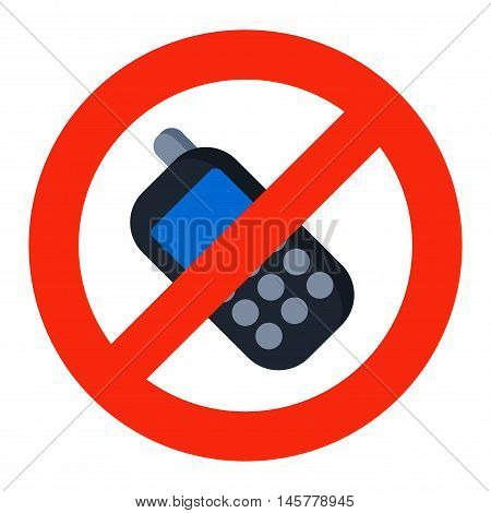 Prohibition music or phone talk sign vector illustration. Warning danger symbol prohibiting sign. Forbidden safety information prohibiting sign. Protection signs warning information sign.