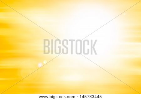 abstract orange background. bokeh abstract light background. Summer background with a magnificent sun burst with lens flare. Hot with space for your message