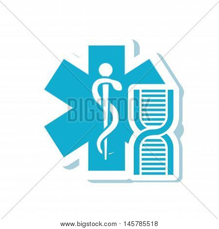 caduceus dna medical health care icon. Flat and Isolated design. Vector illustration