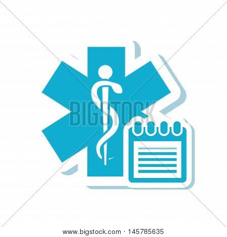 caduceus agend  medical health care icon. Flat and Isolated design. Vector illustration