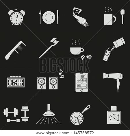 A Set Of Objects On The Morning