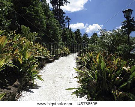 caminho da natureza, estrada em parque de Gramado - RS