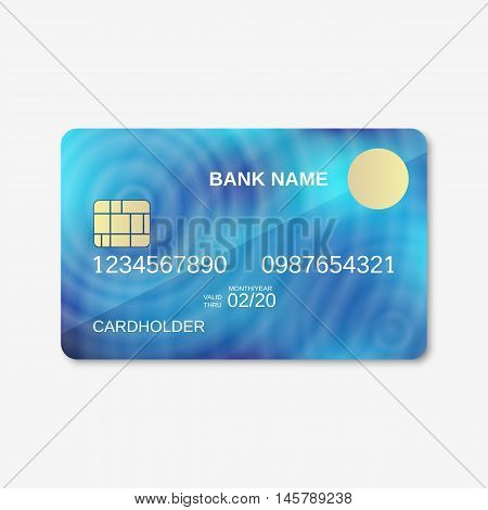 Bank card, credit card, discount card vector design template