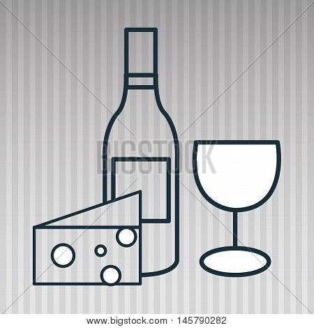 wine glass cheese icon vector illustration eps10 eps 10