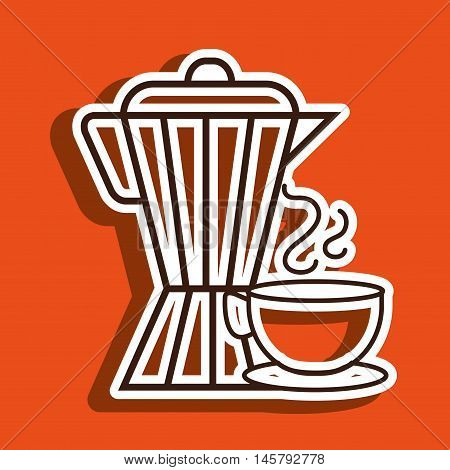 coffee maker cup icon vector illustration eps10 eps 10
