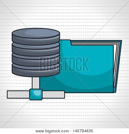 data base server pc vector illustration grpahic