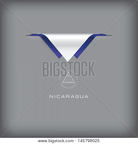 The combination of colors of the national flag Nicaragua.