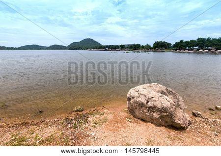 the Sub Lhek Reservoir at Lopburi Thailand