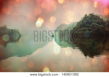 Serene BaBe Lake in Vietnam