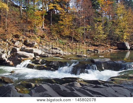 Thresholds on the Prut River in Yaremche in the central part of the Ukrainian Carpathians