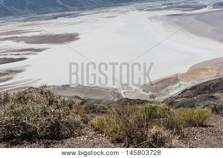 Badwater Basin seen from Dantes View in Death Valley National Park, California