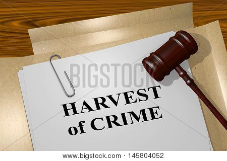 Harvest Of Crime - Legal Concept