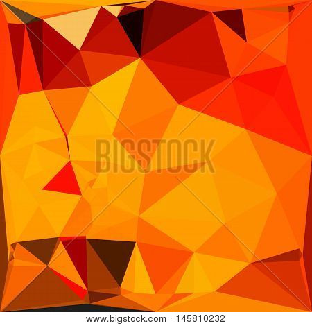 Low polygon style illustration of a cadmium yellow abstract geometric background.