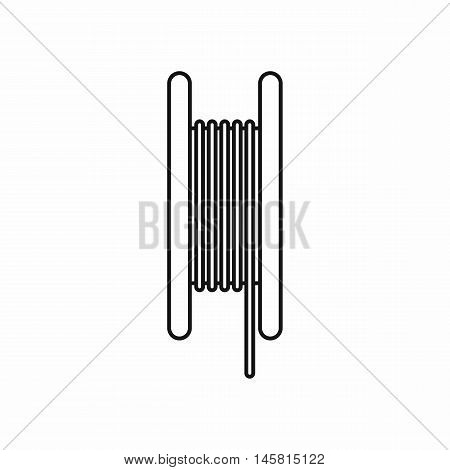 Electric cable icon in outline style isolated on white background vector illustration