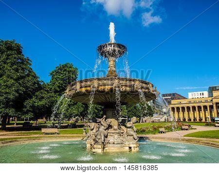 Schlossplatz (castle Square) Stuttgart Hdr
