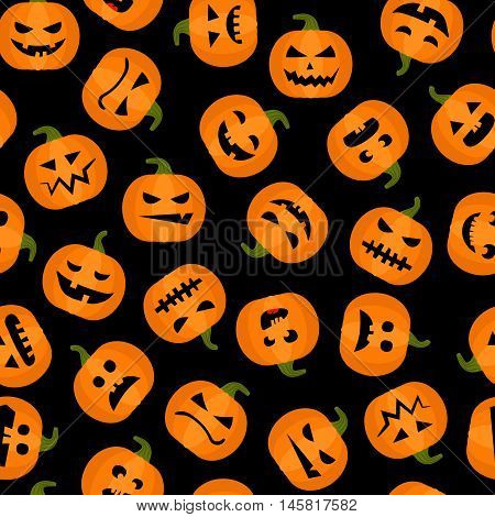 Halloween adorable seamless background. Pumpkin autumn harvest vector pattern