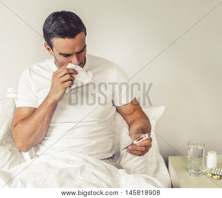 Man With Common Cold