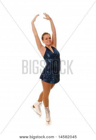 Smiling Figure Skater