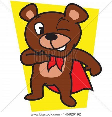 Mighty Bear Illustration Vector Art Tshirt Design
