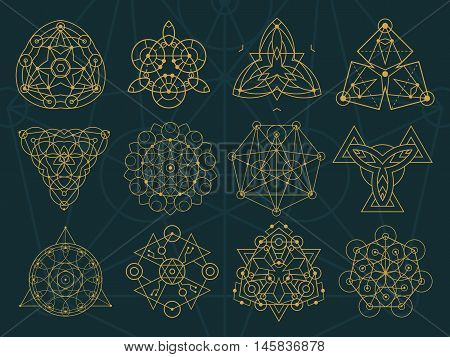 Abstract Sacred Geometry And Magic Symbols Set 2
