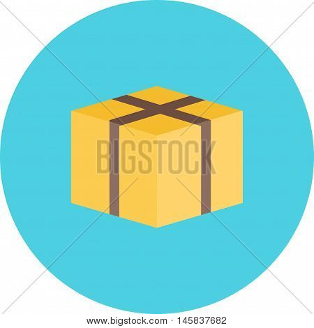 Box, wrap, packaging icon vector image. Can also be used for finances trade. Suitable for web apps, mobile apps and print media.