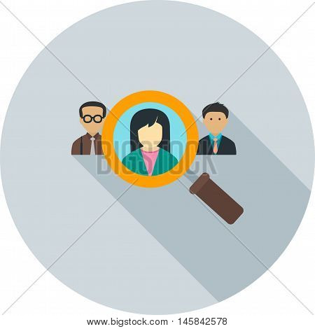 Select, candidate, job icon vector image. Can also be used for employment. Suitable for use on web apps, mobile apps and print media.