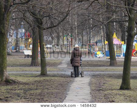 A Walk In A Spring Park.