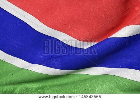 Gambia Flag Waving