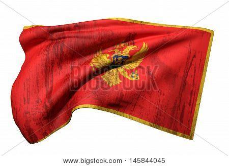 3D Rendering Of A Montenegro Flag