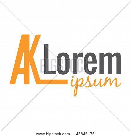 Logo. Generic orange logo. Lorem Ipsum words