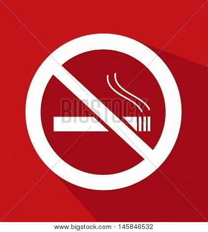 No Smoking Sign colored illustration design art