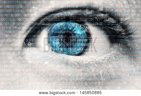 An innocent eye exposed to digital information flow from the internet