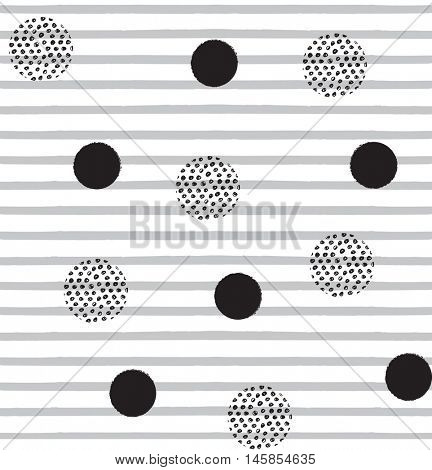 Modern seamless pattern background with dots and stripes