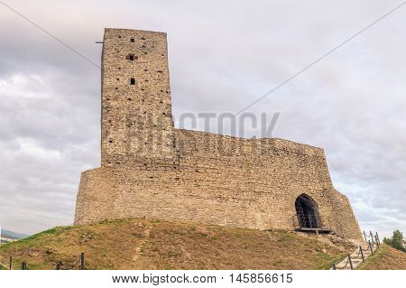 Ruins of medieval castle in Checiny, Poland