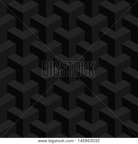 Vector unreal texture, abstract design, illusion construction, black background