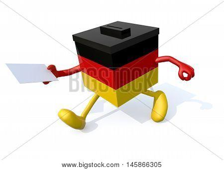German Ballot Box Cartoon