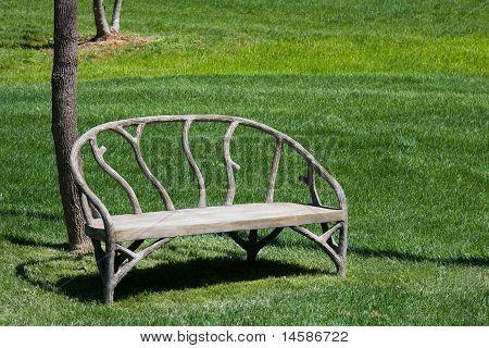 Unique Wood Bench