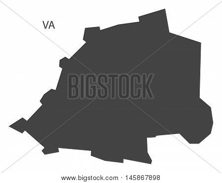 Vatican city grey map isolated vector high res