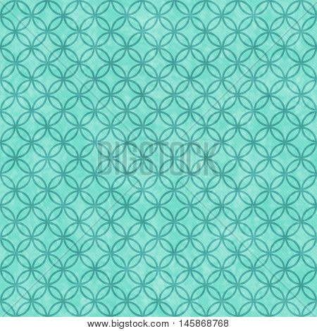 Teal Circles Tile Pattern Repeat Background that is seamless and repeats