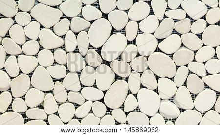 White scree block for decoration on the house wall.