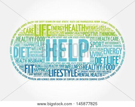 Help Word Cloud, Fitness, Sport