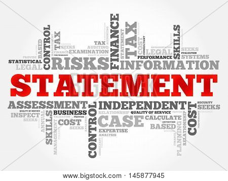STATEMENT word cloud business concept, presentation background