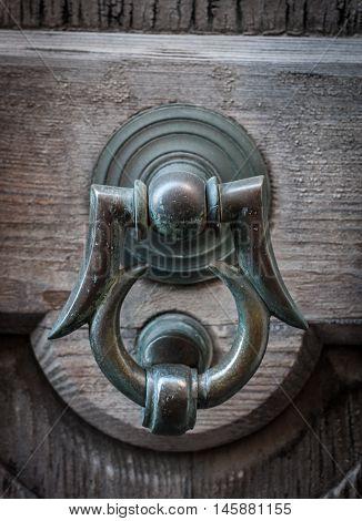 Old Door With Clapper